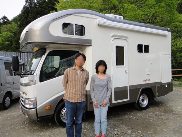 新キャンピングカーデイブレイク号の納車、京都のマックレー