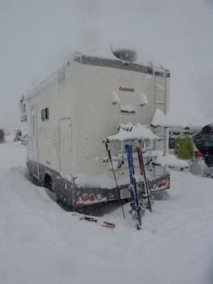 安比スキー場でのキャンピングカーデイブレイク