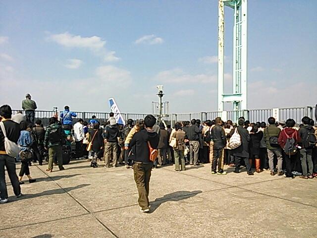 熊本空港展望デッキ ANA b747-400退役ツアー