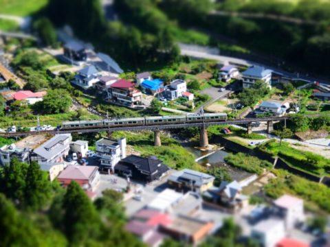 山寺 仙山線 ジオラマ