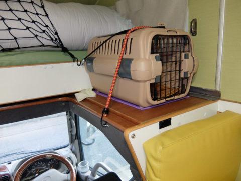 キャンピングカーの猫の席