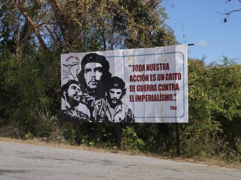 キューバ チェ・ゲバラ 看板