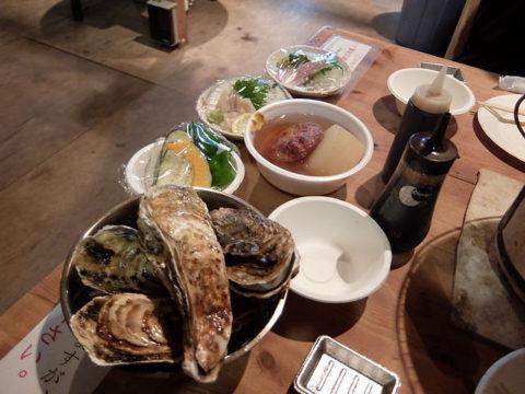 ばんや酒処牡蠣刺身