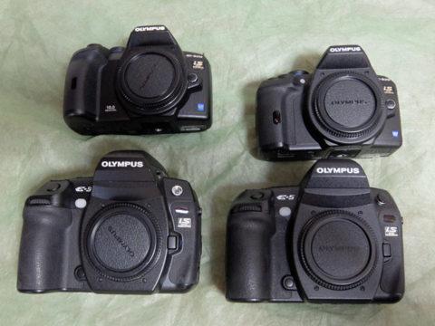 売却したフォーサーズ Eシステムカメラ E-5 E-3 E-620 E-520