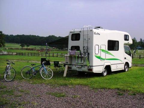 北海道 キャンピングカークレソンでキャンプ