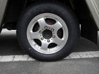 タイヤ交換にあわせアルミホイールに入れ替え。サーチ・ポリッシュ JWL-T 990kg