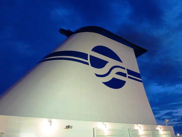 太平洋フェリーのファンネルマーク新いしかり