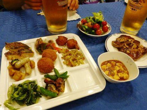 太平洋フェリーいしかりの夕食