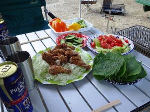 駒ヶ根オートキャンプ場 アウトドア料理 キャンピングカー