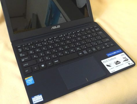 ASUSU Eeebook X205TA B5ノートのキーボード