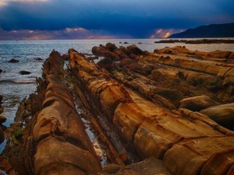 高知県の竜串海岸(HDR画像)