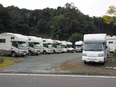 マックレーオフ会、静岡森町トルシエパーク。キャンピングカーの集合写真