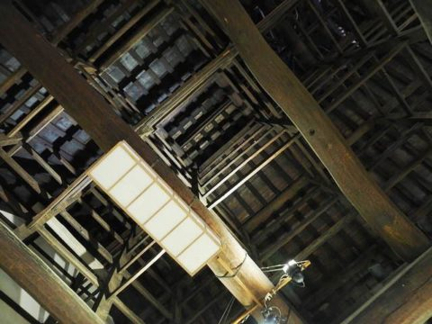 松島瑞巌寺の庫裡の屋根裏