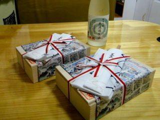 キャンピングカー納車の夜、京都の老舗料亭辻留の弁当でお祝い