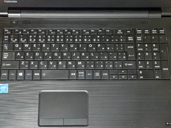 東芝ノートPCdynabook Satellite B35/Rのキーボード