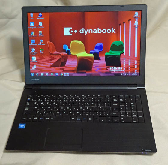 東芝dynabook,satelliteB35のデスクトップ画像