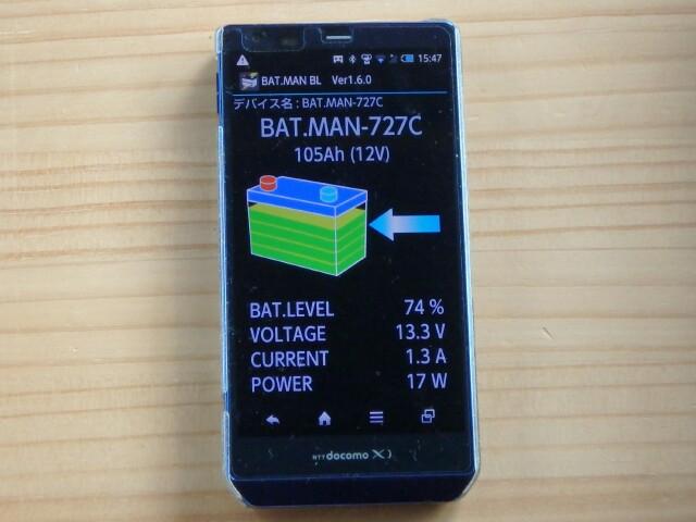 BAT.MAN充電表示