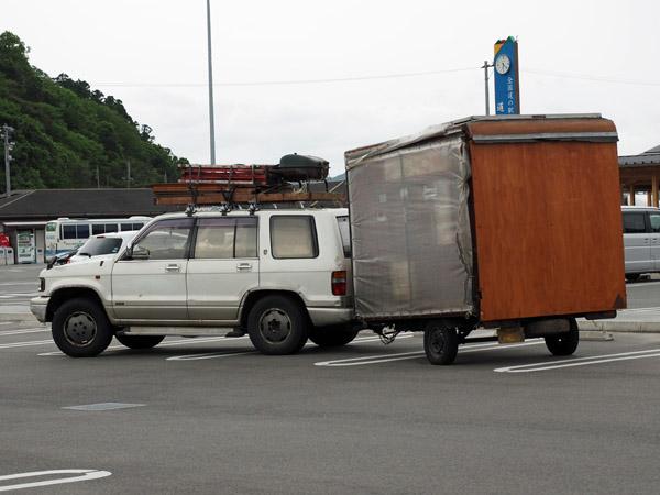 道の駅阿武町で遭遇した自作トレーラーの画像