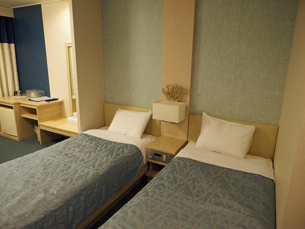 太平洋フェリーいしかりの1等和洋室のベッド
