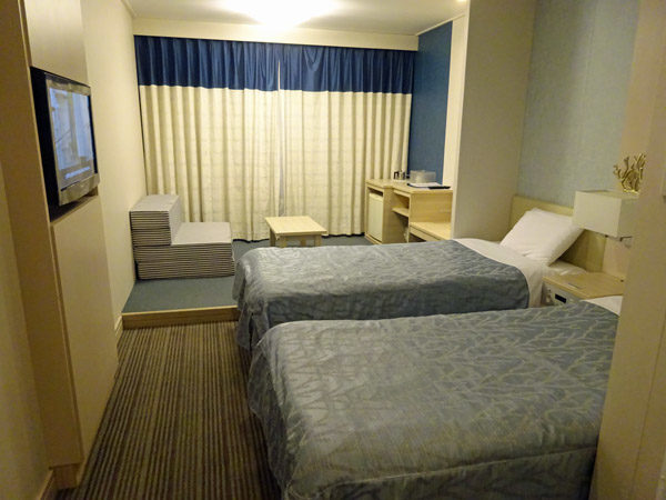 太平洋フェリーいしかりの1等和洋室(3~4人室)