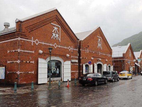 函館ベイエリアの金森赤レンガ倉庫