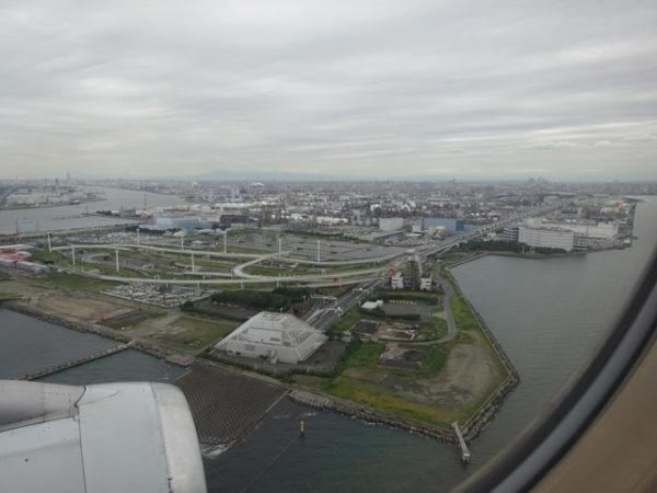 羽田空港A滑走路着陸直前の眺め