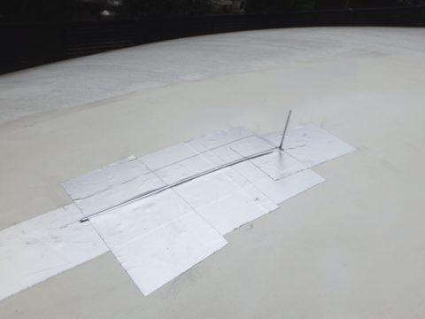 FRP製キャンピングカーの放電索を作成
