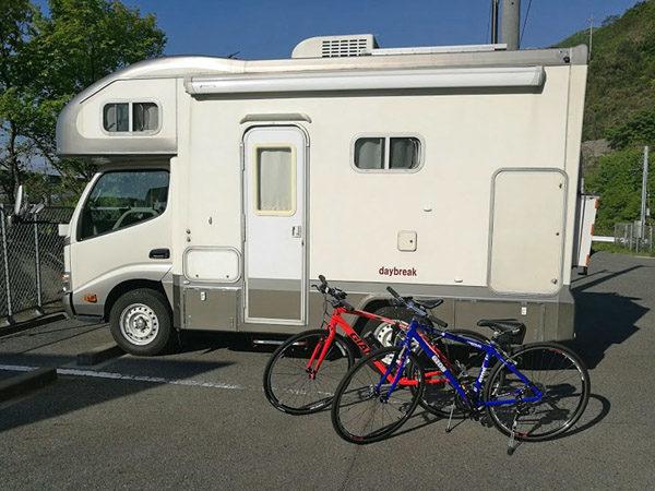 キャンピングカーにクロスバイクを積んでしまなみ海道をサイクリング