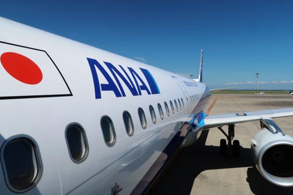 anaのa321,搭乗タラップから撮影