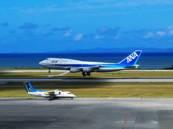 ANA_B747-400とRACの那覇空港