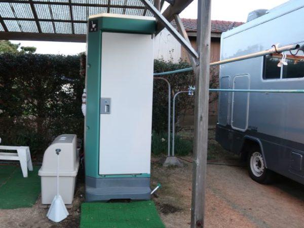 RVパーク阿字ヶ浦の屋外トイレ、洋式