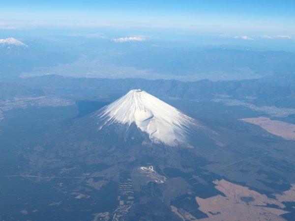 ANA463便から見えた富士山