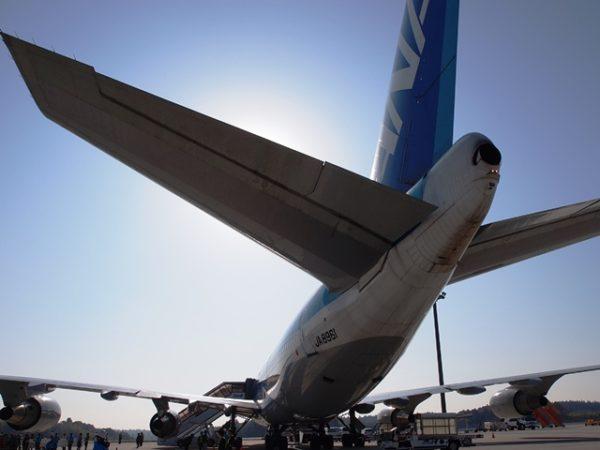 ANAのB747-400の尾翼
