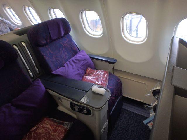 エアチャイナエアバスA321のビジネスクラスのシート