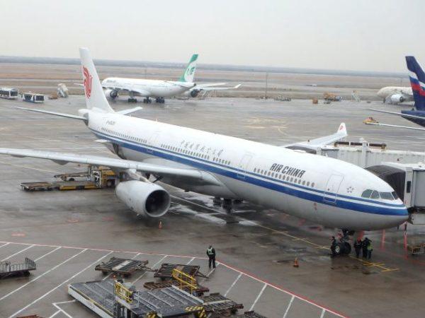 中国国際航空(エアチャイナ)エアバスA330-300,上海空港