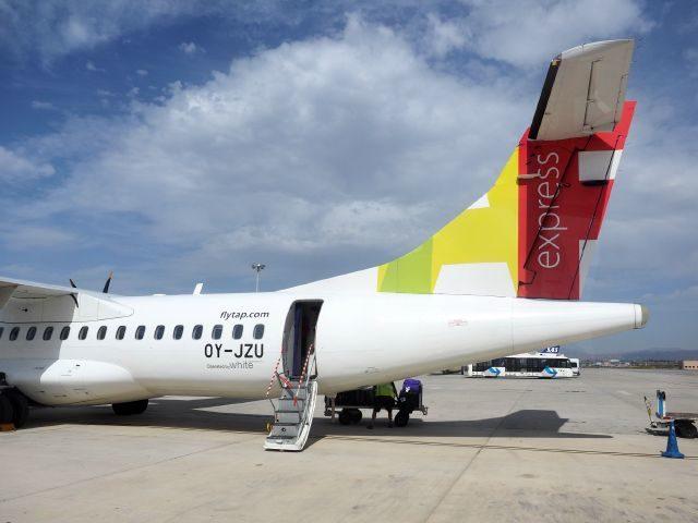 TAPポルトガルATR72,リスボン空港