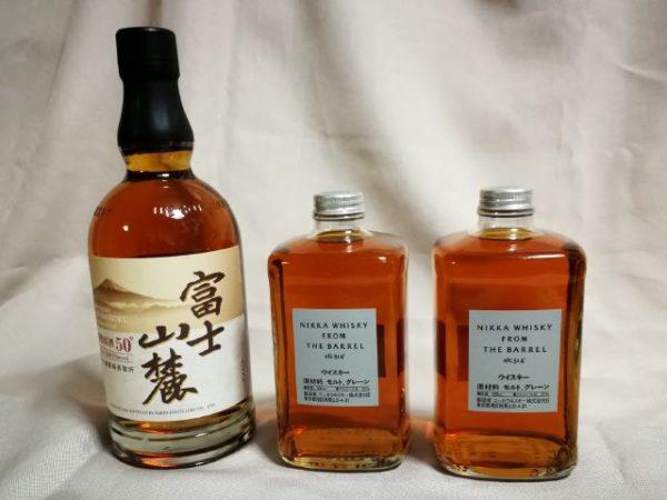 我が家の常備ウイスキー、「富士山麓」と「フロム・ザ・バレル」の画像