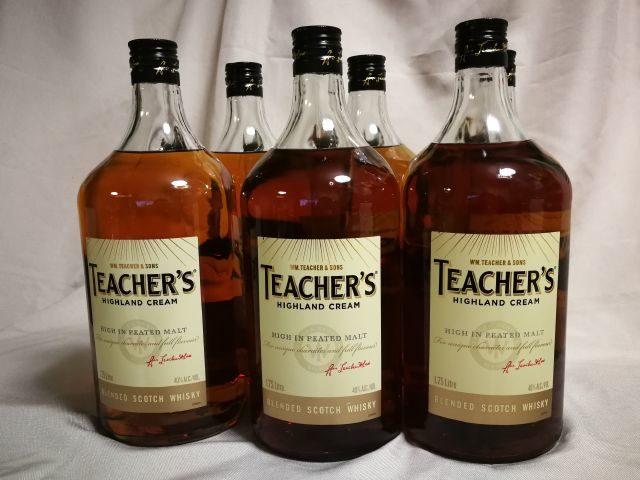スコッチ、ティーチャーズ・ハイランドクリーム1.75リットル瓶6本
