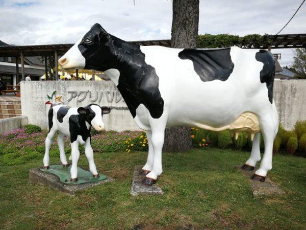 道の駅アグリパル塩原の牛の像