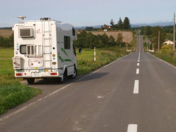 キャンピングカー、クレソンでいった、北海道ジェットコースターの道