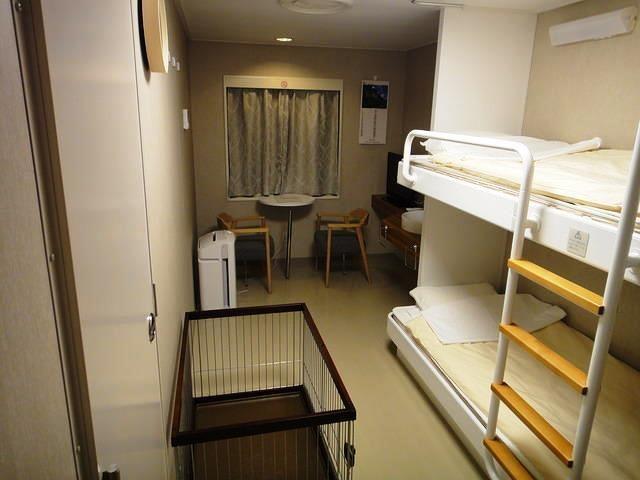 川崎近海汽船シルバーフェリーの1等ペット同伴室