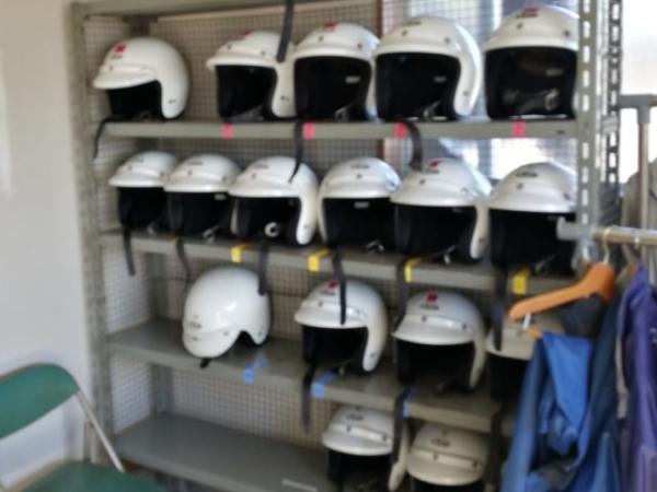大型2輪教習所のレンタルヘルメット