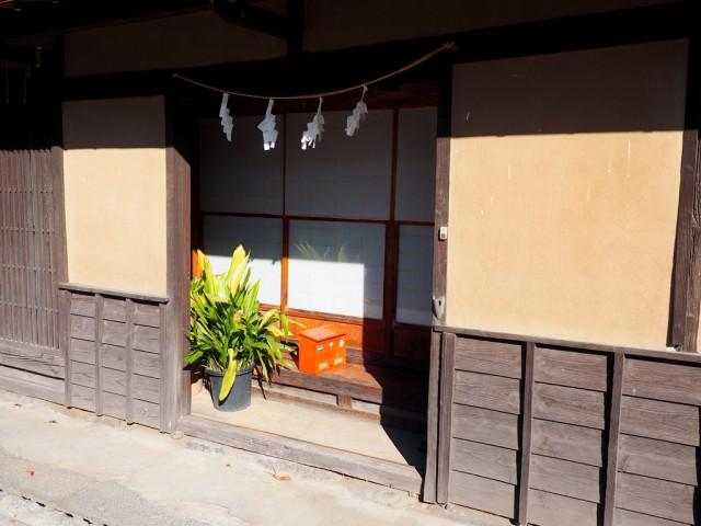 海野宿の旧家の玄関
