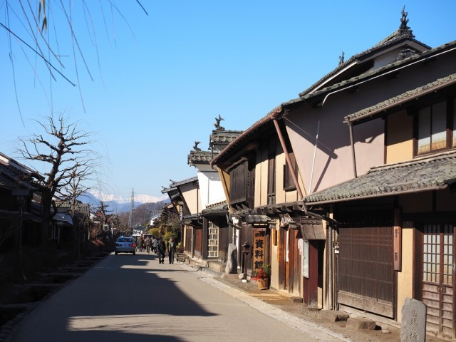長野県東御市海野宿の古い街並み
