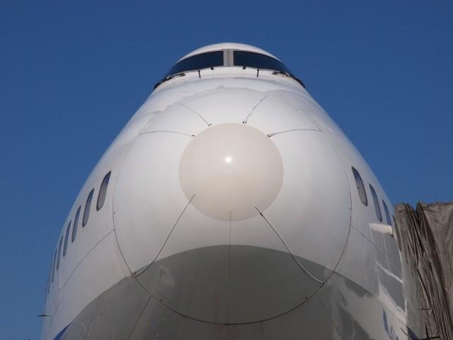 ボーイング747-400ジャンボJA8961の機首アップ